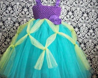 Ariel Tutu Dress- knee length or floor length