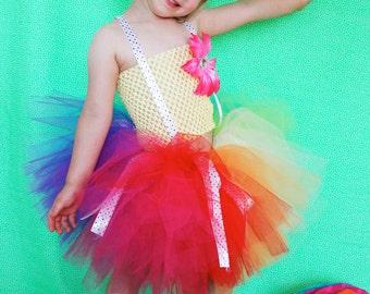 Rainbow Clown Tutu Costume- Hat not included