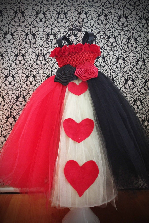 RESERVED for heppyong- Queen of Hearts Tutu Dress Costume