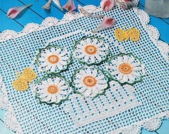 Basket of daisies pattern PDF