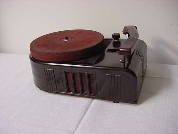 Vintage Silvertone Model 256 Record Player Vintage Turntable