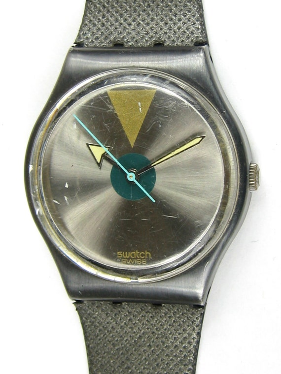 Swatch watch mens glowing arrow used in box vintage1989 unisex woman