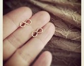 Infinity Studs /Tiny Infinity Studs / Post Earrings / Handcrafted Studs / Everyday jewelry/Minimalistic Jewelry/ Dainty Jewelry