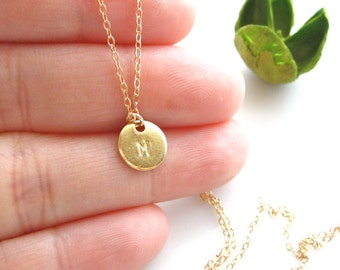 Initial Necklace/ Hand Stamped Custom Initial Drop Necklace/ Custom stamped Jewelry/ Personalized Gift/ Holiday Gift