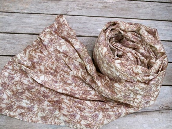 Extra long Silk scarf