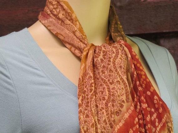 Batik Silk Scarf, Scarf Silk, Batik Scarf