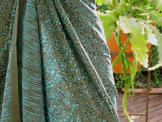 Sarong, Beach Sarong, Pareo, Blue Grey Scarf, Wrap