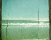 Vintage Beach Fishing Poles - Surf Fishing Blue Green Retro Art Print - TTV Photograph - 5x5 Photo