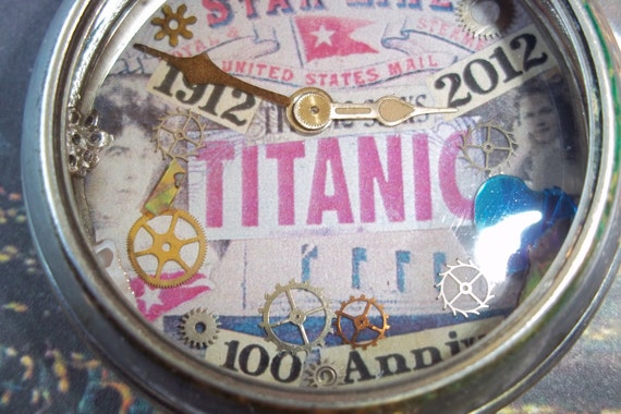 Titanic  Commemorative Antique Pocket Watch Necklace Number 1- Free Shipping-US Only!