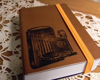 Vintage Old Camera Pocket Journal Sketch Book Pad