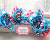 Cat and the Hat piggy tail bows