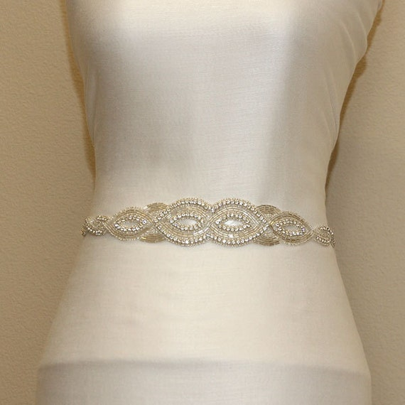custom order ivory sash