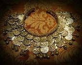 Egyptian Bellydance Coin Arm Cuff