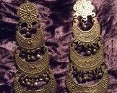 Vintage Goldtone Cascading Dangle Earrings