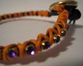 Arm Party Leather and Rhinestone Bracelet Colorful Wrap Friendship Bracelet