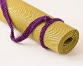 Yoga Mat Strap,Yoga Mat Sling, Yoga Bag, Dark Orchid, Slim Tote Handle - US Shipping Included,Original HH Design