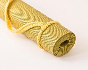 Yoga Mat Strap, Yoga Mat Sling, Yellow, Slim Tote Handle - US Shipping Included,Original HH Design