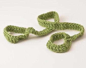 Yoga Mat Strap, Yoga Mat Sling, Tea Leaf Green, Slim Tote Handle - US Shipping Included, Original HH Design
