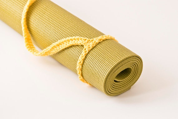 Yoga Mat Sling Yellow Slim Tote Handle US by HandmadeHealth