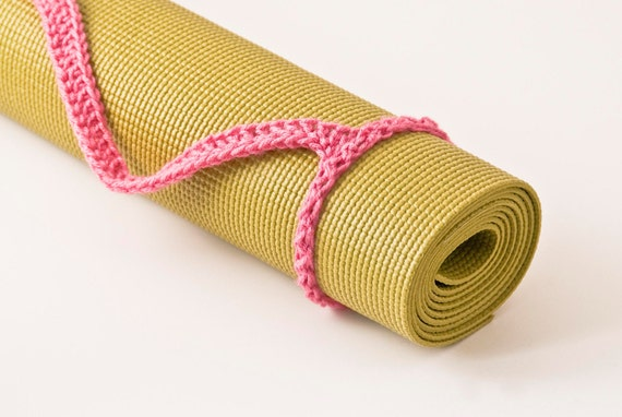 Yoga Mat Strap, Light Raspberry Slim Tote Handle - US Shipping Included,Original HH Design