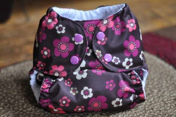 One Size Cloth Diaper - Posies