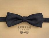 Dark Blue Denim Bowtie
