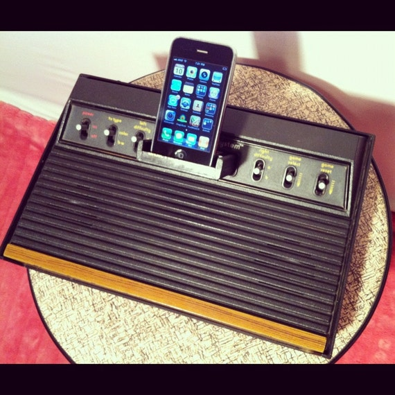Recycled Atari 2600 Portable Media Audio Dock