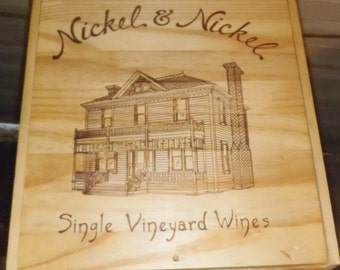 Nickel and Nickel Finished Wine Crate with Inserts - Finished and waxed.