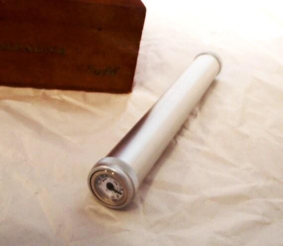 Cigar Humidor tube - Aluminum,    Groomsman  / Best man gift Box Set bonus