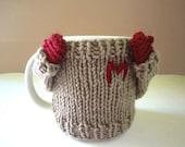 Coffee mug cozy/ cup cosy/ mug sweater for mom