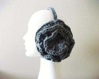 Gray Earmuffs by giZZdesign, wearableart