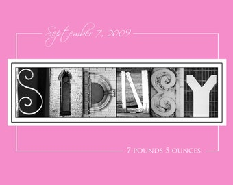 Printable Name Art Signs * Letter Art * Alphabet Photos * Custom Gifts * Print At Home Or Print Lab / Design Emailed To You Within 24 Hours