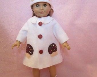 White fleece swing coat (Chocolate Cupcake Coat)