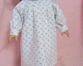 Flannel Nighgown (Blue Flower Gown)