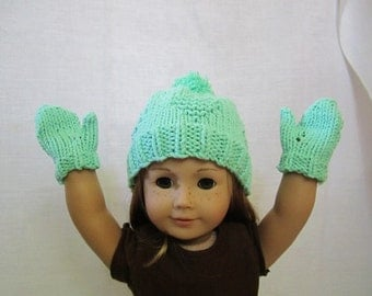 Green Heart Knitted Hat