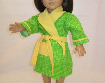Green and Yellow Bathrobe