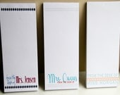 Set of 3 Personalized Teacher Notepads - From the Desk of - Personalized  - Teacher Gifts
