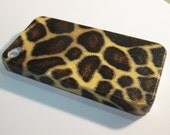 Giraffe print  iPhone 4 case /  iPhone 4s case /  iPhone 4s cover / iPhone 4 cover / hard case / decoupage