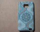 Light blue Samsung galaxy s 2 case /Samsung galaxy s 2 cover / i9100  - decoupage