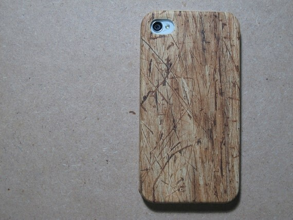 Brown Faux Wood iphone 4s case / iphone 4s cover / iPhone 4 Case / iPhone 4 Cover