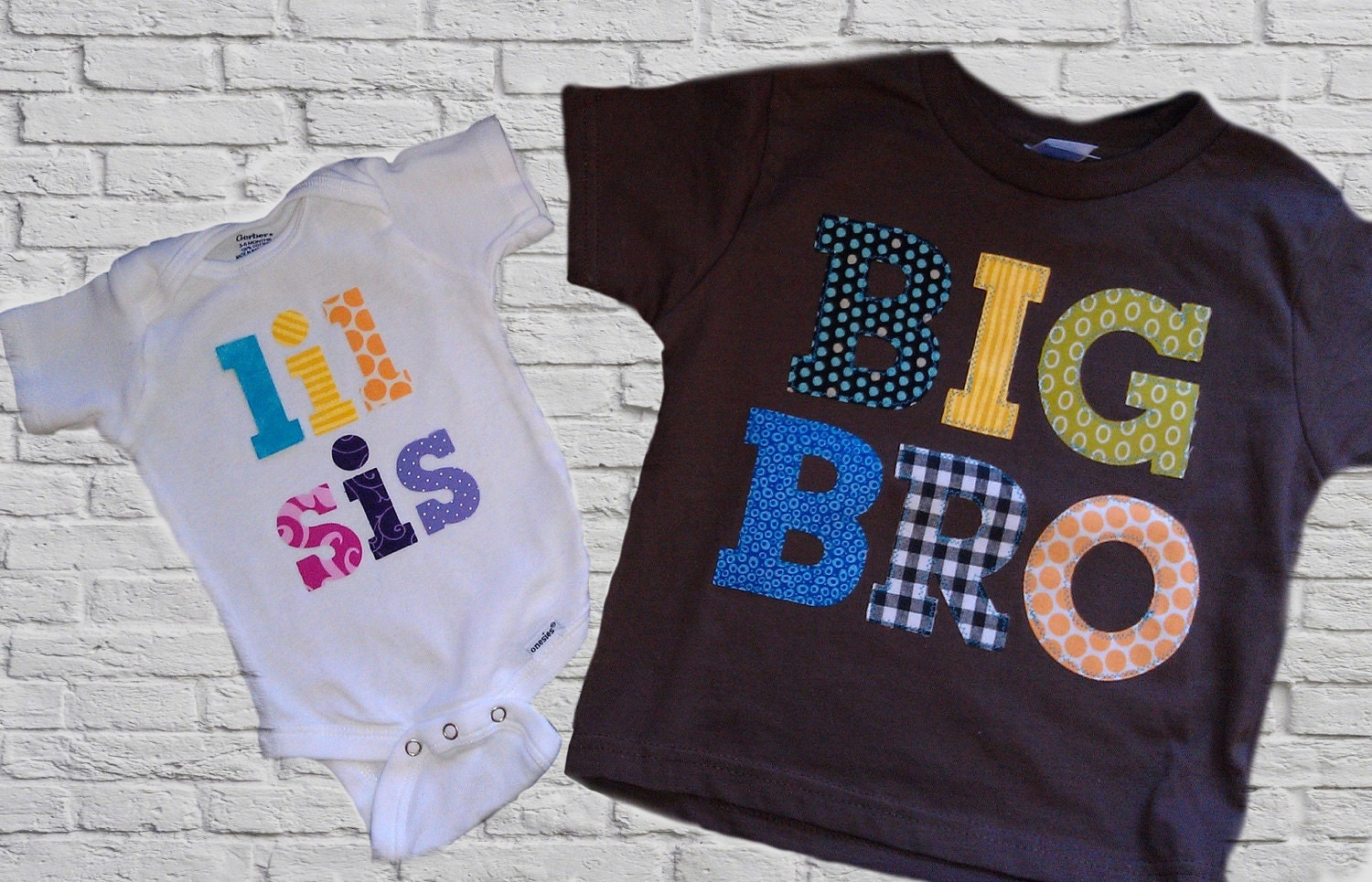 Big Brother Little Sister Sibling Shirts Onesies Set
