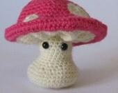 Pink Mushroom Amigurumi Plush