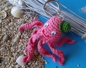 Pink Octopus key holder