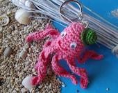 Pink Octopus key holder
