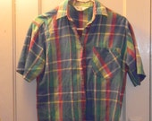 Greenwich Point Plaid Blouse Size 8