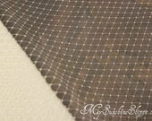 French Netting for Bird Cage Veil - IVORY