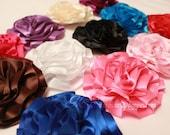 Satin Ribbon Flowers - set of 8 - you choose colors