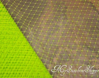 French Netting for Bird Cage Veil - LIME GREEN