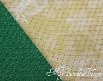 French Netting for Bird Cage Veil - EMERALD GREEN