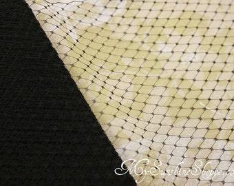 French Netting for Bird Cage Veil - BLACK